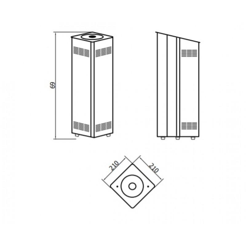 Sterilizační UV čistička s ionizátorem SANITEC TOWER - bílá