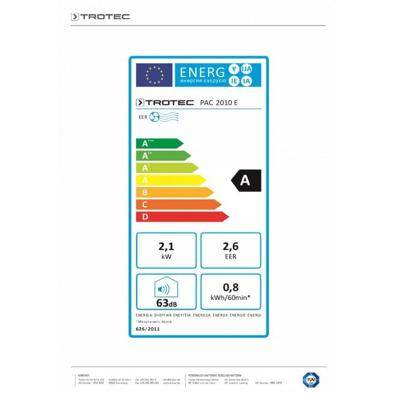 Mobilní klimatizace TROTEC PAC 2010 E