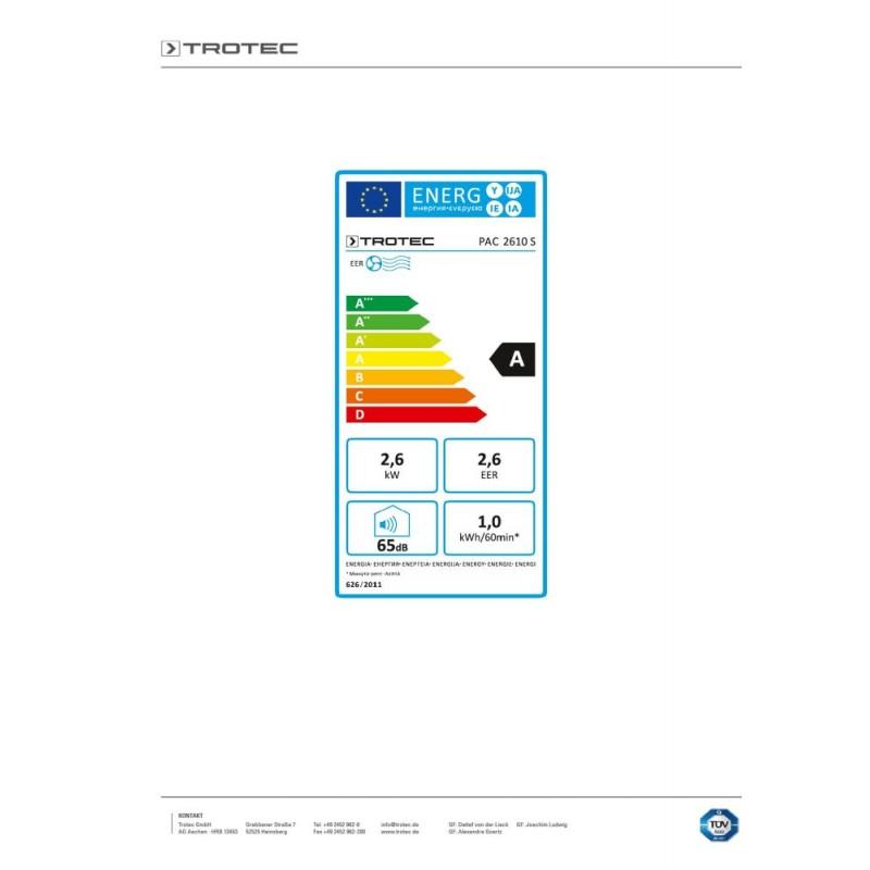 Mobilní klimatizace TROTEC PAC 2610 S