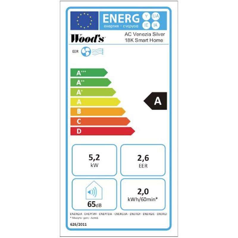 Mobilní klimatizace Woods VENEZIA 18K Smart Home