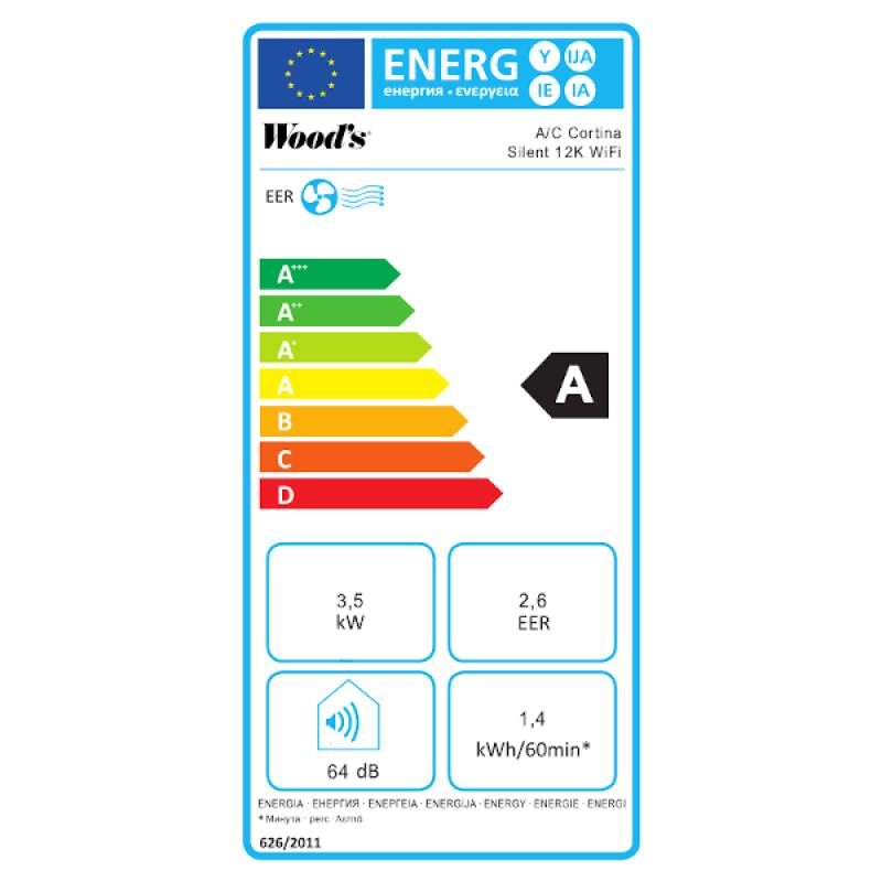 Mobilní klimatizace Woods CORTINA 12K Smart Home Recenze