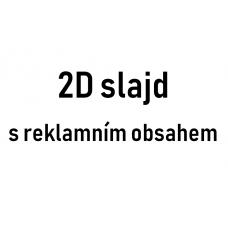 2D slajd s reklamním obsahem