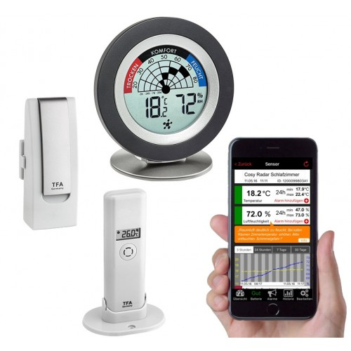WEATHERHUB č.8 - bezdrátový monitor klimatu TFA 31.4008.02