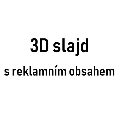 3D slajd s reklamním obsahem