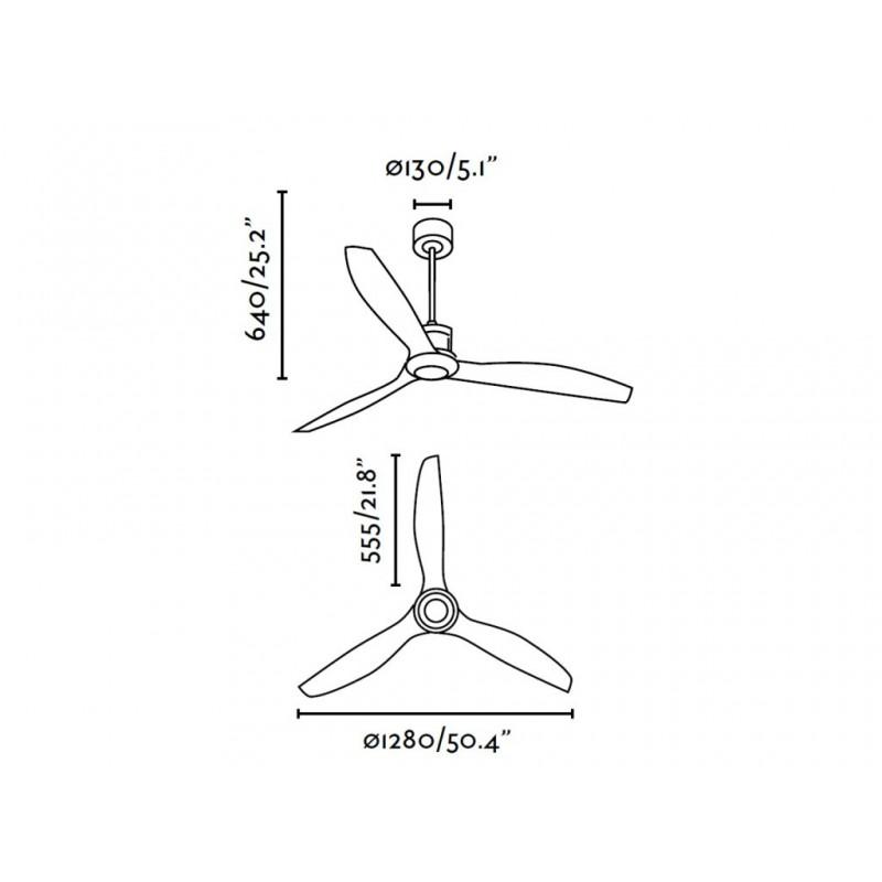 Stropní ventilátor FARO JUST FAN