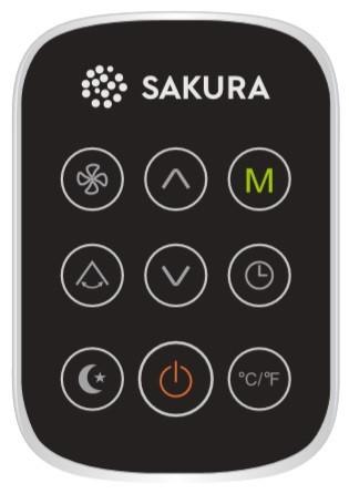 SAKURA STAC 12 CPB/K Wi-Fi BLACK ovládání